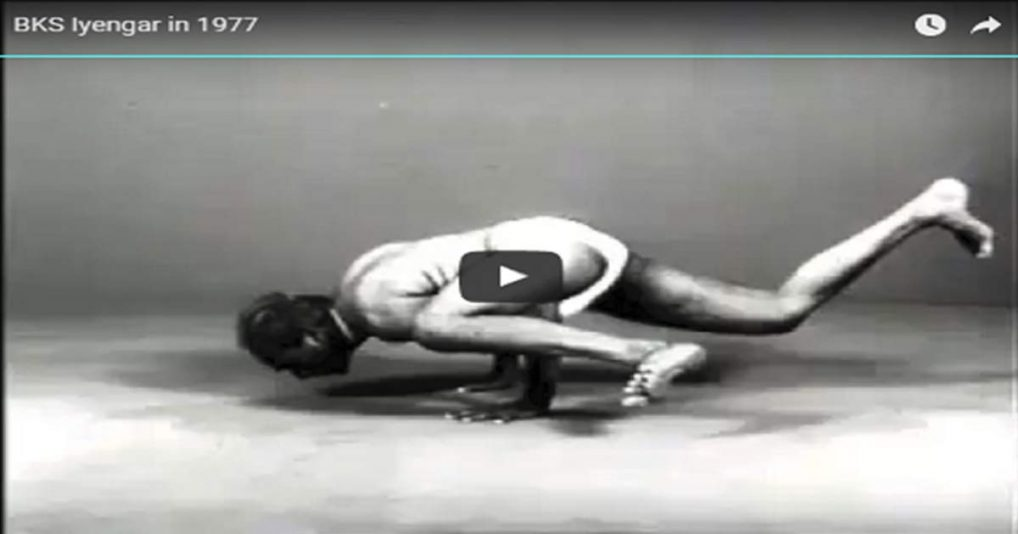 BKS Iyengar in 1977 Amazing Black & White Video