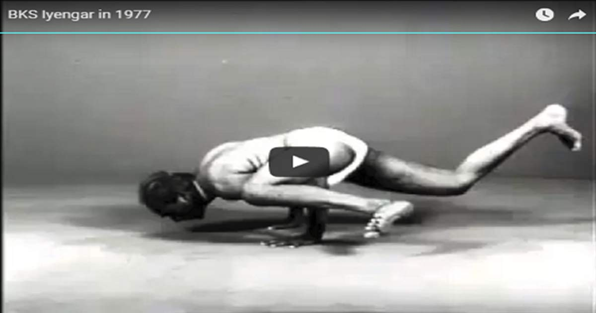 BKS Iyengar in 1977 Amazing Black & White Video