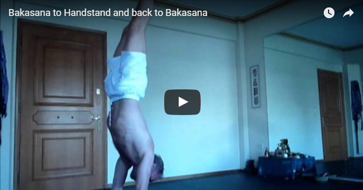 Bakasana to Handstand And Back To Bakasana