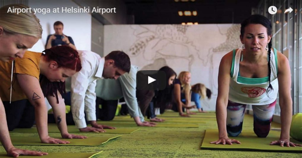 Yoga In The Airport – What A Fantastic Idea