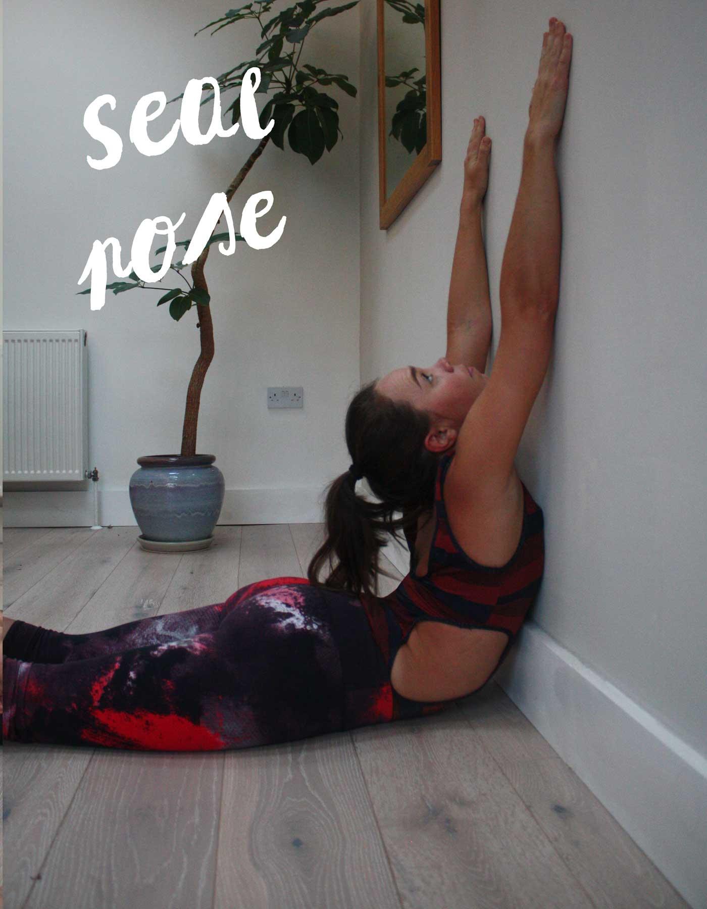 wall-yoga-seal-pose